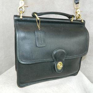 COACH Vintage 'WILLIS' Bag ~ #G8C-9927 ~ Black VGC